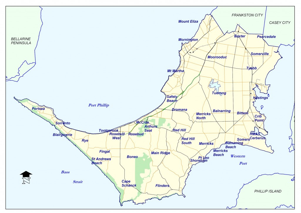 Mornington Peninsula Shire Map